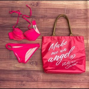 Victoria Secret 2-Piece Swimsuit  and free Tote